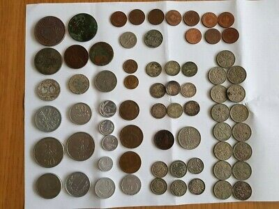 69 x Job Lot Antique Old Rare Coins England Germany Poland Others collectors