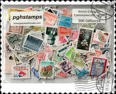British Empire & Commonwealth without GB : 300 Different Stamps