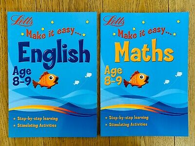 Letts X2 Set Age 8-9, Key Stage 2 |Letts Book Make it Easy, English And Math