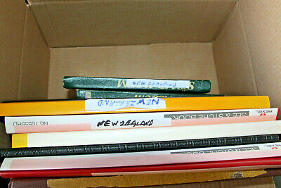 New Zealand - Box Of 9 Collections Sold As 1 Large Lot
