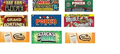 95 MIx $5 California Lottery,Fantasy 5,& Super Lotto Tickets for 2nd Chance,