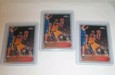 1996-1997 Topps Chrome #KOBE BRYANT ROOKIE RP MINT LOT Of (3) RC's!!! LA Lakers