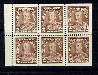 CANADA - 1935 KG V TWO CENT PICTORIAL BOOKLET PANE - SCOTT 218b - MNH