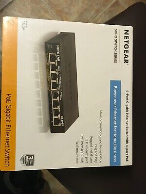 Netgear Soho Gigabit Ethernet Switch Gs308P - Switch - Unmanaged - ... NEW