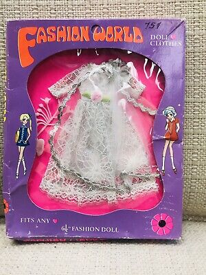 DAWN PIPPA VINTAGE CLONE Doll Fashion -Fashion World Bridal Dress NRFB MINT