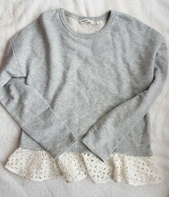 Girls Country Road Top Grey (Size 10)