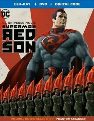 Superman:red Son(Blu-Ray+Dvd+Digital Code)W/Slipcover New Free Shipping