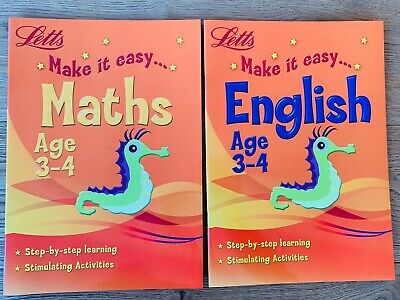 Early Learning English & Maths Workbook Children Ages 3-4 Reception Home School