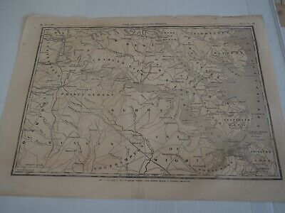 "Antique Map ""Frank Leslie's Illustrated Newspaper, Map of the seat of war in VA"""