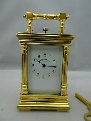 Very small Swiss Carriage clock Quarter repeater