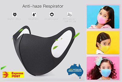 Kids Anti-Flu Cloth Face Covers Child Reusable Nose Mouth Cover Washable Filter