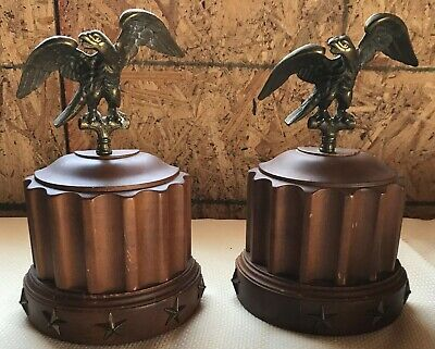 Vintage Tell City Chair Co Furniture Bookends Book Ends Eagles Wood Andover