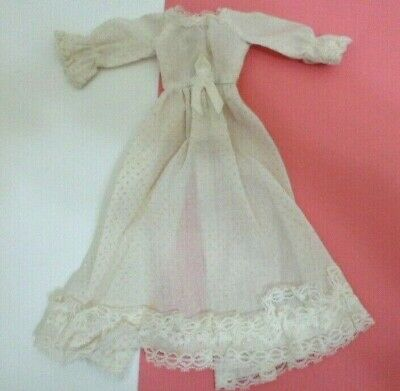 Vintage Clone BARBIE TRESSY doll clothes  DOTTED SWISS WEDDING DRESS GOWN 1960's
