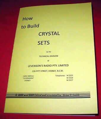 """How To Build Crystal Sets"" Booklet + Bonus - 2 x Germanium Diodes 1N34A 1N277"