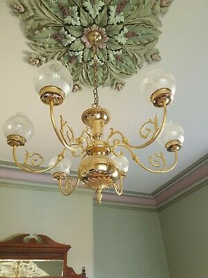 Vintage Brass Chandilier Light Fitting