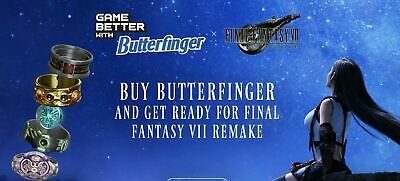 Final Fantasy 7 Remake FF7 DLC Code Butterfinger Tifa Theme + 5 DLC ON HAND!