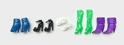 New Barbie Doll clothes accessories  5 pairs shoes boots evening outfit dress