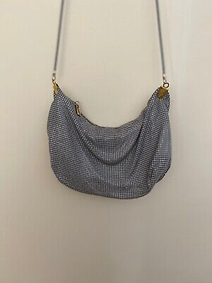 Glomesh Australia vintage grey slouch shoulder bag with strap with tags 1984