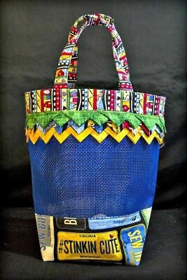 Small Prairie Point Mesh Tote from Cut Loose Press