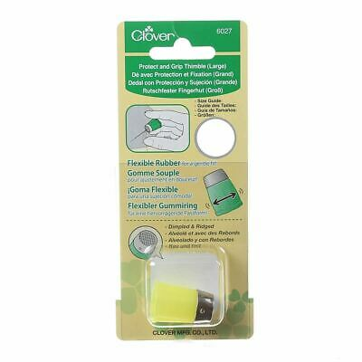 Clover Protect & Grip Thimble - Yellow  Large