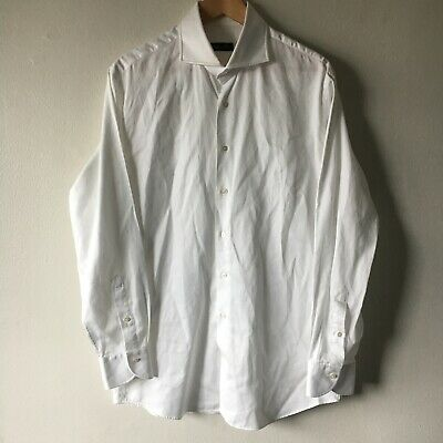 Phineas Cole 16.5 34 Shirt White Formal Dress Button Down Collar Cotton Standard
