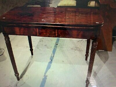 Georgian (1800-1830) Flame Mahogany Fold Over Supper Table