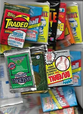 Huge lot of unopened baseball card packs!   40+ baseball cards!!