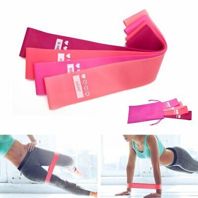4pack Workout Resistance Bands Loop Set Fitness Yoga Booty Leg Exercise Band US