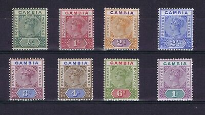 DC733  GAMBIA 1898 Queen Victoria definitive issue SG 37/44  MH