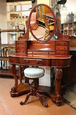A Stunning Victorian Cedar Dressing Table c.1870's - Stool in another Listing