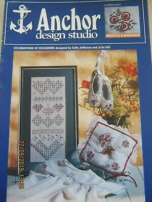 Anchor Hardanger & Embroidery Christening Sampler Gown Wedding Ring Pillow Chart