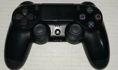 Official Sony PlayStation 4 PS4 Dualshock 4 Wireless Controller Jet Black Tested