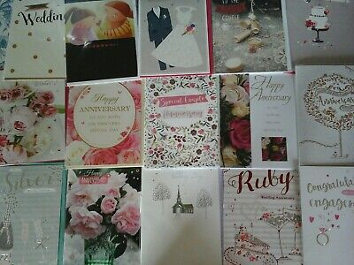 40 Wedding, Anniversary, Engagment, Cards, Wholesale Joblot Greeting Cards
