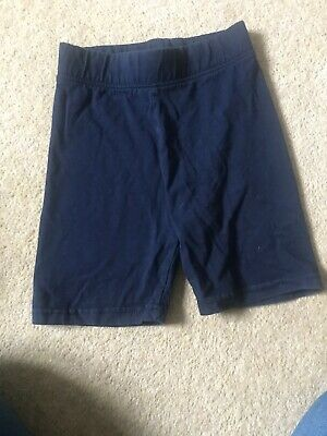 Girls Navy Gym Shorts Age 7-8