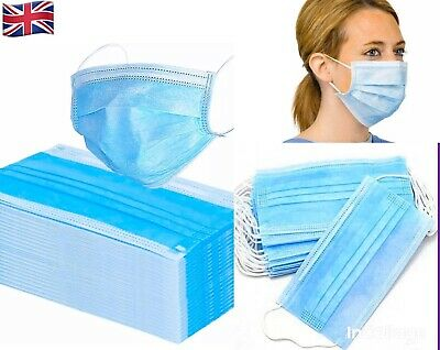 10x surgical face flu, dust, bacteria, Mouth Guard Protection 3ply