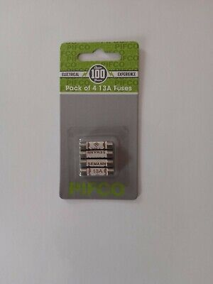 13A DOMESTIC HOUSEHOLD FUSES FUSE PLUG MAINS 13AMP CARTRIDGE - 4 Pack