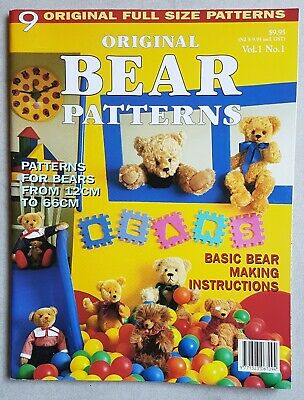 Original Bear Patterns Book Vol 1 No 1 - 9 Bears - including patterns - AS NEW