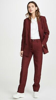 BNWT Ganni Red Suiting  Pants Sz 38/US Size 6 Small