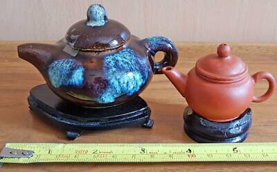 2x small Chinese Pottery Teapots