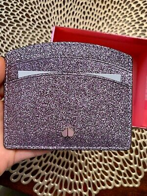 NWT Authentic KATE SPADE NEW YORK Glitter Card ID Holder in box