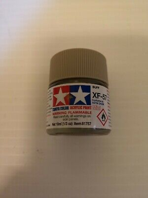 Tamiya Acrylic Paint 10ml pot  XF51 to XF90  Delivery charge is for any quantity