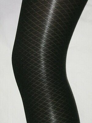 Girls Black Tights. Age 10-12 Diamond Opaque