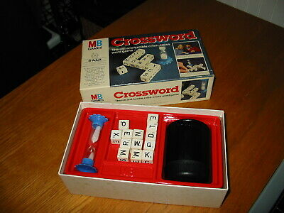 Old Vintage 1970's MB Crossword Classic Family Word Spelling Educational Game