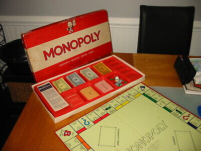 Old Vintage Waddingtons Monopoly Classic Family Fun Property Trading Board Game