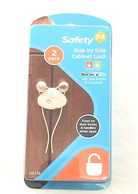 Safety 1st Side by Side Cabinet Lock #HS158 2 Pack knob locks for baby Brand New