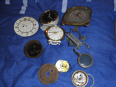 Three old clocks including Westclox Scotland, non-runners, spares or repair.