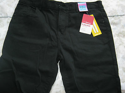 RRP€18 aged 14-15 Marks & Spencer girls black school stretch skinny trousers