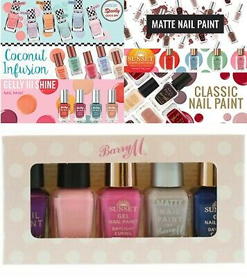 Barry M Nail Paint Polish Varnish 5 Piece Gift Box Manicure Set Assorted Colours