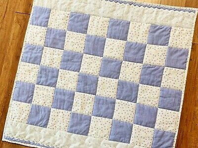 Baby Girl Quilt Handmade Lavender Lace Patchwork Nursery Crib Blanket New