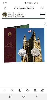 1973 EEC Entry and 2020 Withdrawal from the European Union UK 50p Two-Coin Set